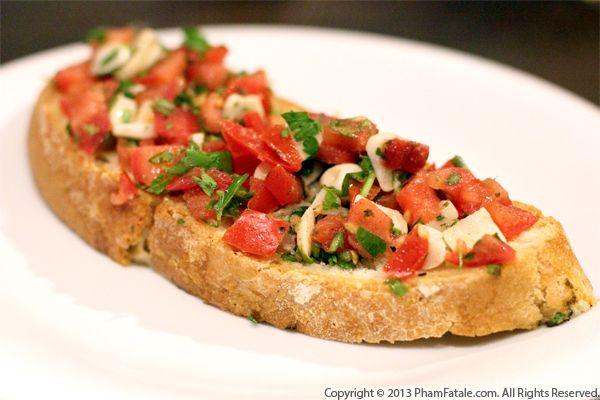 Bruschetta With Olive Cheese