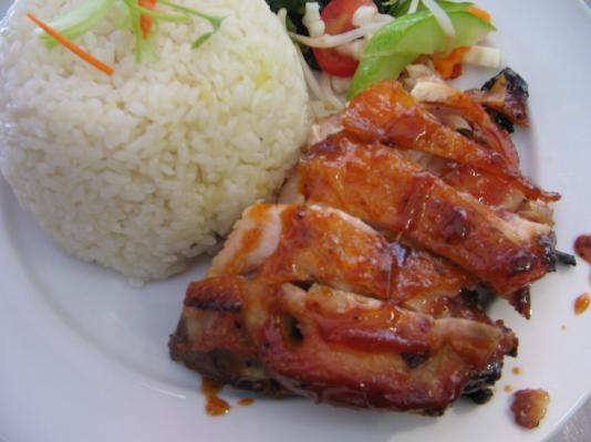 Honey chicken rice