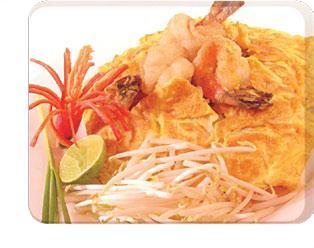 Pad Thai goong sod (Spicy)