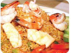 Khao pad thalay (Spicy)