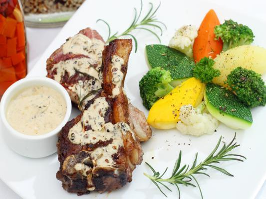 Grilled Baby Lamb With Black Pepper Sauce (seasonal)