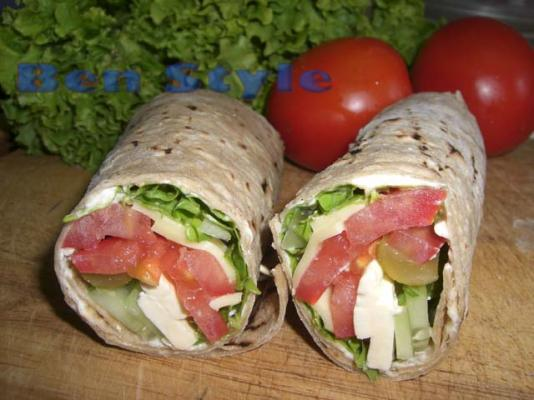 20 Cheese Salad Wrap