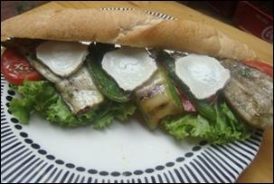 Vegetarian Goat Cheese Sandwich