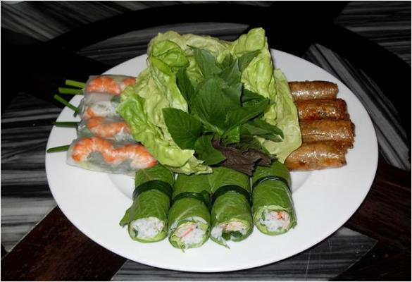Fresh combination spring roll (5ps)