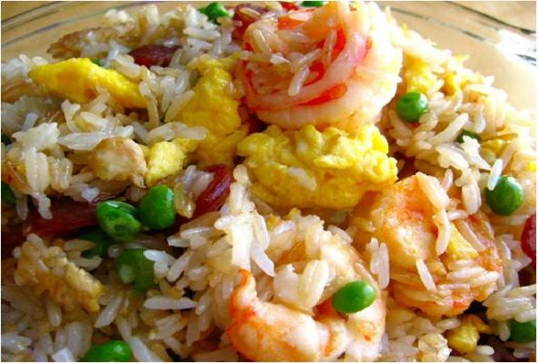 Fried rice and seafood/beef/tuna