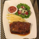 Lamb steak with pepper sauce/BBQ sauce/Cheese sauce/Sweet and sour sauce.