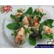 Vegan shrimp wrapped in meatloaf