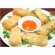 Fried veganseafood spring rolls