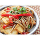 Stir-fried enoki mushroom with tofu