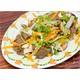 Stir-fried vegan beef with mushroom