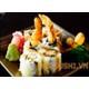 Sushi rolls fried shrimp coated TEM