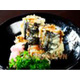 special fried salmon belly sushi roll