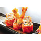 SU22 Sushi rolled with fried shrimp coated crab eggs
