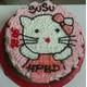 No.34 Round face of Hello Kitty cake