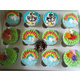 No.57 Box of 12 cupcake as topic Deremon and rainbow