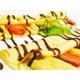 Strawberry and banana crepe