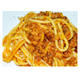 Stewed beef spaghetti with tomato sauce