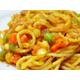 Vegetable with tomato sauce spaghetti