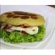 Ham+omelette bear paw burger