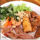 Grilled pork, Grilled spring roll, fried spring roll & pigskin, noodle.