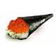 Ikura temaki Salmon roe hand roll
