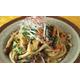Fried mushroom and udon noodles
