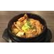 Korean sauced pork and kimchi