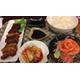Salmon sashimi and beef BBQ