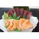Moguro & Salmon sashimi
