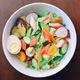 Sticky crab salad