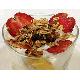 Mixed fruit yogurt, granola