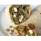Lentil & fetta cheese wrap