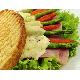 Ham & asparagus panini