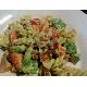 Pasta salad with avocado sauce