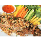Deep fried snakehead fish