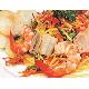 Mango salad with shrimp, pork
