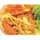 Rice vermicelli with stir toufu/vegan ham