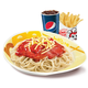 Spaghetti + Regular Fries + Softdrink
