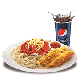 Spaghetti + 2 pcs Chicken Strips + Softdrink