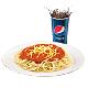 Jumbo Spaghetti + Softdrink