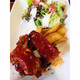 4 Pork ribs + potao + salad