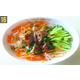 Vermicelli noodles served with golden calf rolls