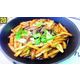 Stir fried pasta with beef