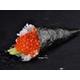 Salmon roe sushi hand-roll