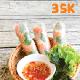 Shrimp fresh spring rolls (3 pcs)