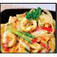 Stir-fried yellow curry with prawns/squids