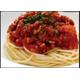 Thai style spaghetti tomato sauce with minced pork