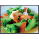 Stir-fried broccoli with prawns