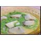 Thai pandan short rice noodle in plam sugar coconut sauce