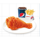 1 Spicy chicken joy + 1 regular french fries + pepsi